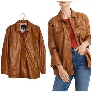 New Madewell faux leather chore jacket